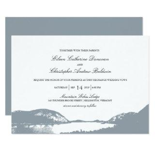 Mountain Lake | Wedding Invitation