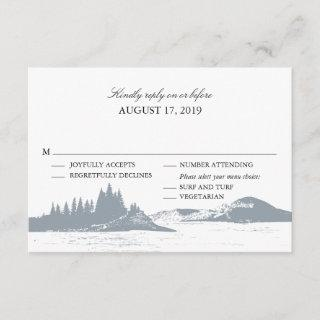 Mountain Lake  | Wedding RSVP with Menu Choices