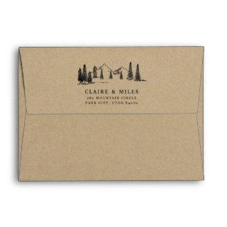Mountain Sketch Kraft Envelope