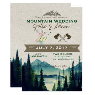 Mountain Wedding/Party Invite