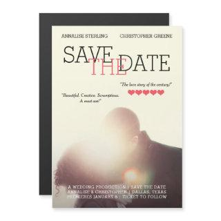 Movie Poster Save the Date Magnetic Invitation