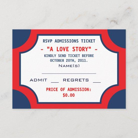 Movie Theater RSVP Admissions Tickets