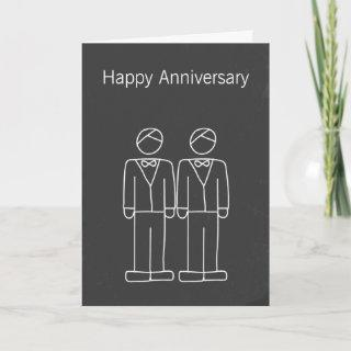 Mr and Mr Doodle Wedding Anniversary Card