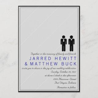 Mr. and Mr. Two Grooms Wedding Invitations