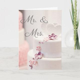Mr and Mrs wedding card with poem