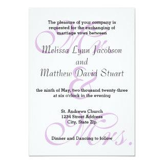 Mr. & Mrs. Purple - Wedding Invitation