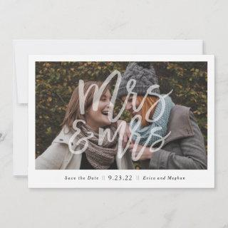 """""""Mrs. & Mrs."""" Photo Save the Date"""