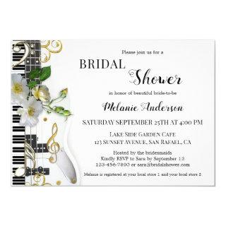 Music and Roses Bridal Shower Invitations