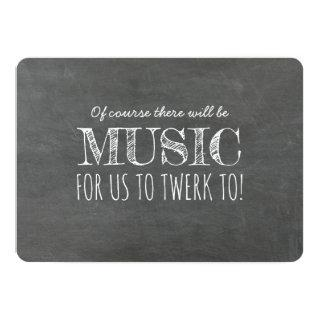 Music to Twerk Funny Bridesmaid Proposal Invitations