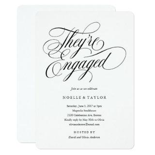 Musical Engagement Party Invitation