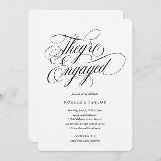 Musical Engagement Party Invitations