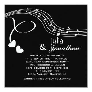 Musical Notes Wedding Invitations