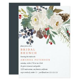 Mystical Winter |  Wedding Bridal Brunch Invitation