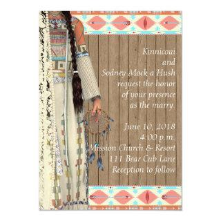Native American Wedding Invitation with Bride