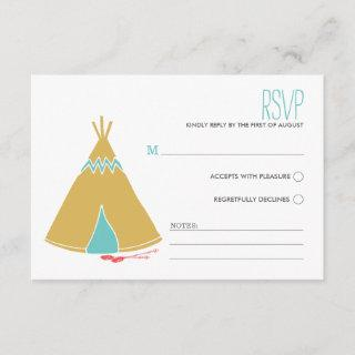 Native Themed | Wedding RSVP Card
