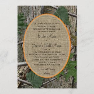 Natural Trees and Leaves Wedding Invitations