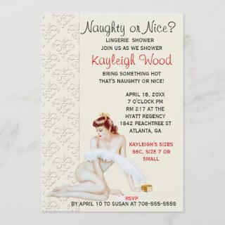 Naughty or Nice Lingerie Shower Invitations