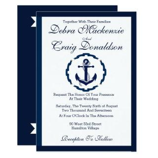 Nautical Anchor Banner - Wedding Invitation