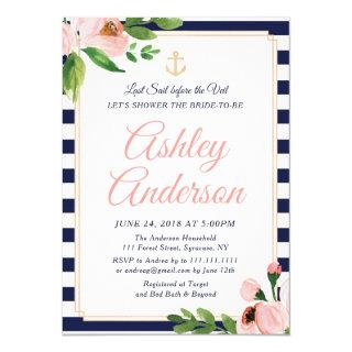 Nautical Anchor Bridal Shower Invitations