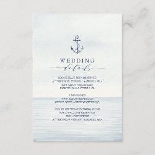 Nautical Anchor Watercolor Ocean Details Enclosure Card