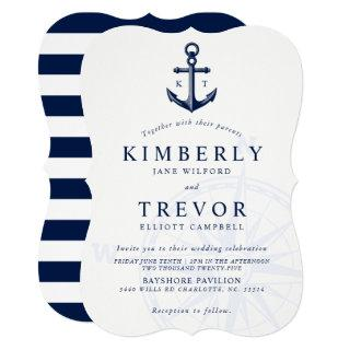 Nautical Anchored Love Wedding Invite