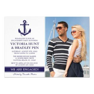 Nautical Engagement Party Photo Invitations