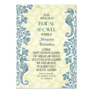 nautical seahorses bridal shower Invitations