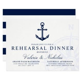 Nautical Themed | Vintage Anchor Rehearsal Dinner Invitation