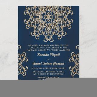 Navy and Gold Indian Inspired Wedding