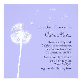Navy Best Wishes on Lilac Bridal Shower Invite
