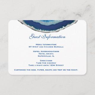 Navy Blue Wedding Details Info Card | Agate