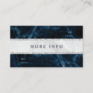 Navy Blue White Marble Wedding More Info Enclosure Card