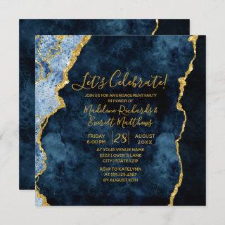 Navy Let's Celebrate Engagement Party Invitation