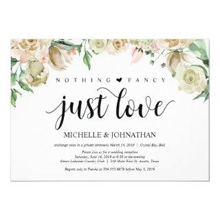 Neutral Spring Elopement Reception Invitations Card