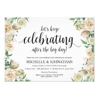 Neutral Spring Post Wedding Brunch Invitation Card