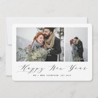 NEW BEGINNINGS HAPPY NEW YEAR(MARBLE) HOLIDAY CARD