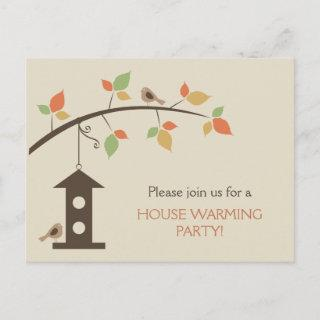 New Birdhouse Invitation Postcard