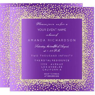 New Champaigne Gold Glitter Confetti Invitations