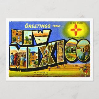 New Mexico - Greetings From New Mexico Card
