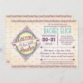 New Orleans Bachelorette Party Invitations