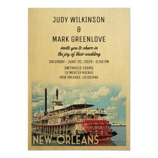 New Orleans Wedding Invitation Vintage Mid-Century