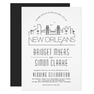 New Orleans Wedding | Stylized Skyline Invitation