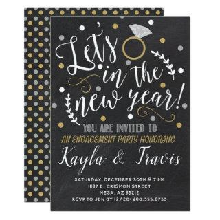 New Year's Eve Engagement Party Invitations