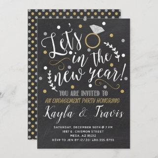 New Year's Eve Engagement Party Invitation
