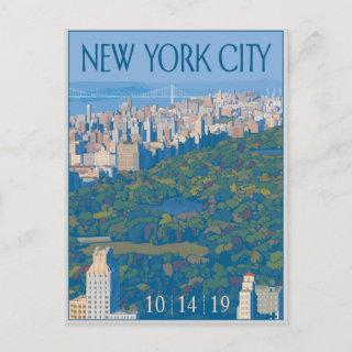 New York City | Save the Date Announcement Postcard