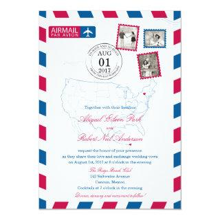 New York to Cancun Mexico Airmail | WEDDING Invitations