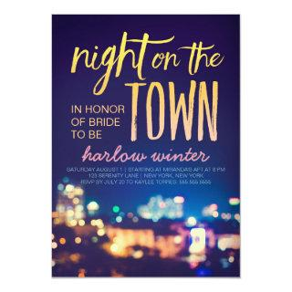 Night on the Town Bachelorette Party Invitations