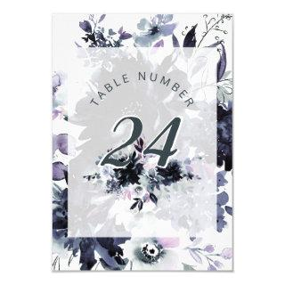 Nocturnal Floral Framed Chic Wedding Table Numbers