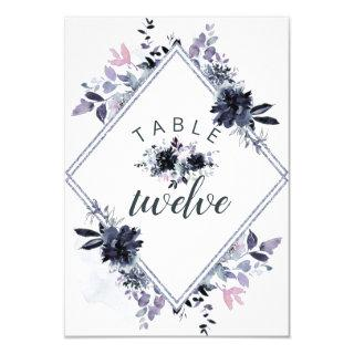 Nocturnal Floral Seating Wedding Table Numbers