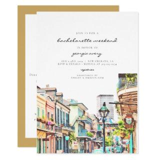NOLA | New Orleans Mardi Bachelorette Itinerary Invitations